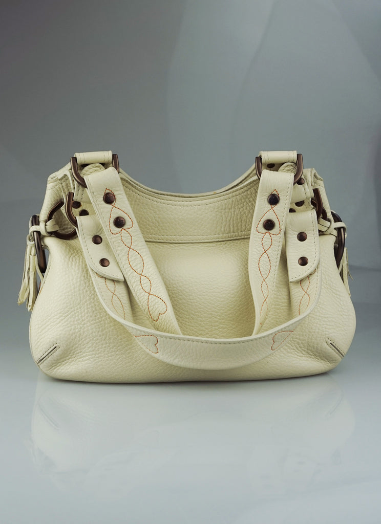 Mulberry Phoebe cream tassel bag