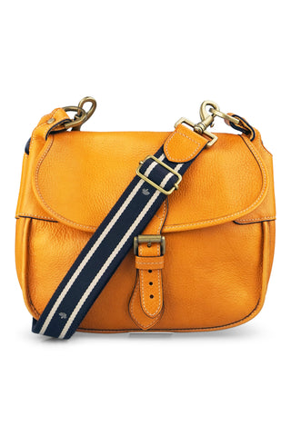 Crossbody tan messenger