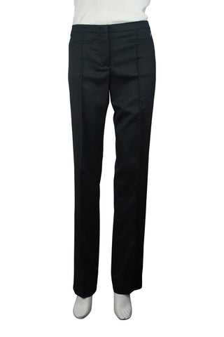 Black stretch wool dress pants (hemmed)