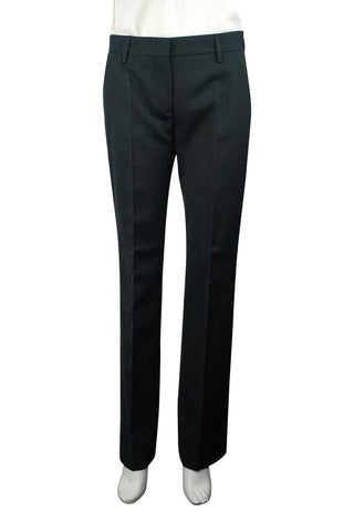 Black stretch wool dress pants  (unhemmed)
