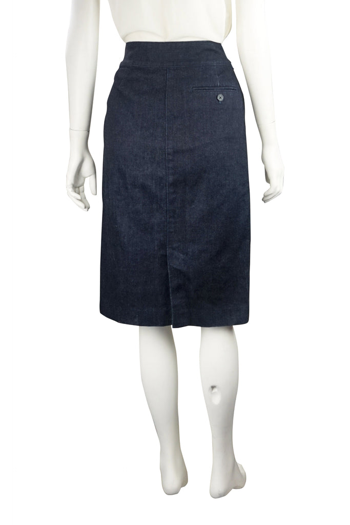 Ralph Lauren raw denim skirt