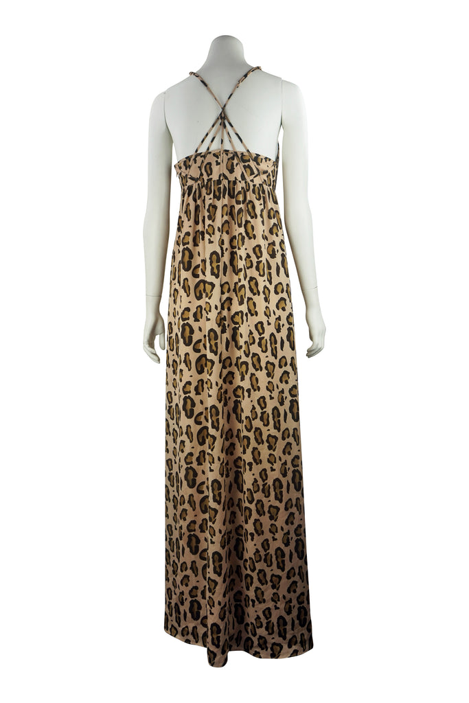 Armani Exchange maxi leopard dress