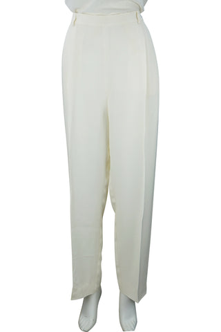 Relaxed crepe trousers
