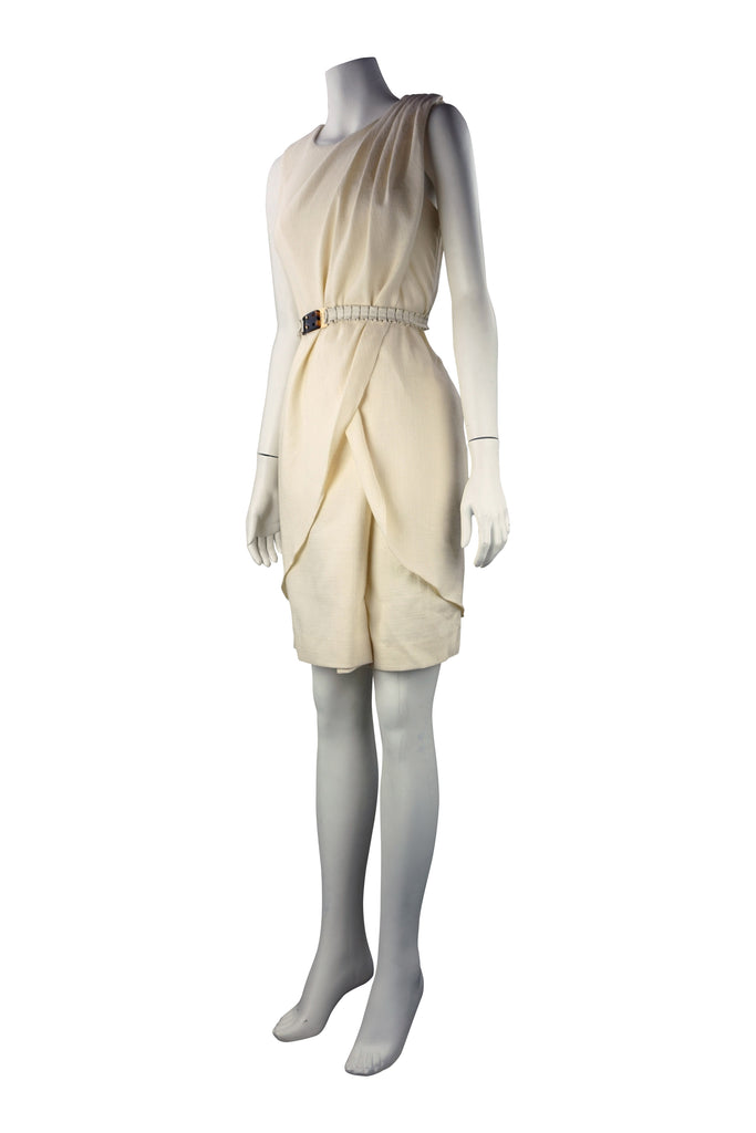 Fendi cream wrap dress