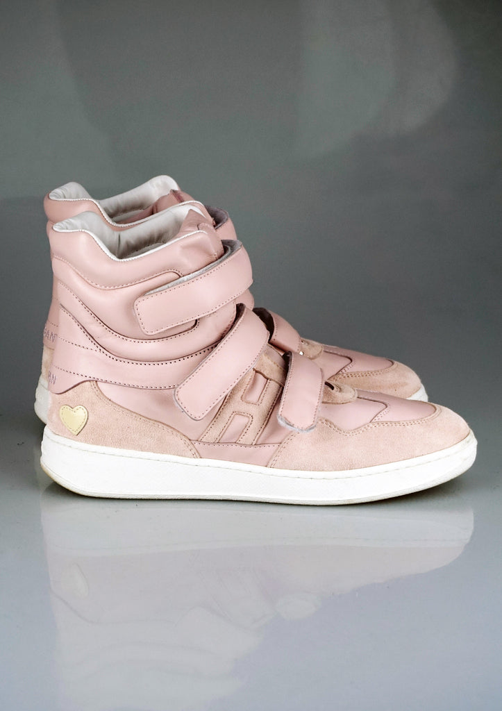 Katie Grand Loves Hogan baby pink sneakers
