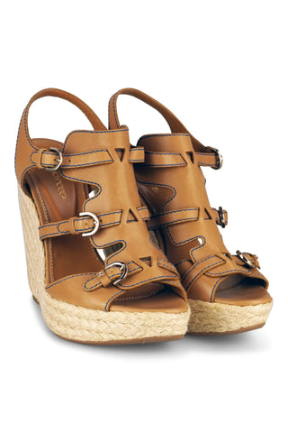 Wedges tan sandals