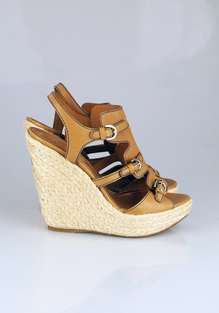 Sergio Rossi Wedges tan sandals