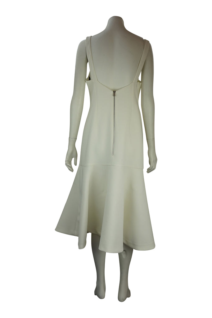 By Johnny White Strap Cocktail Dress