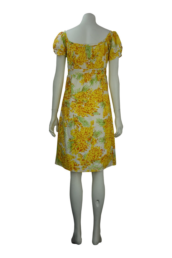 Diane Von Furstenberg Empire floral cotton dress