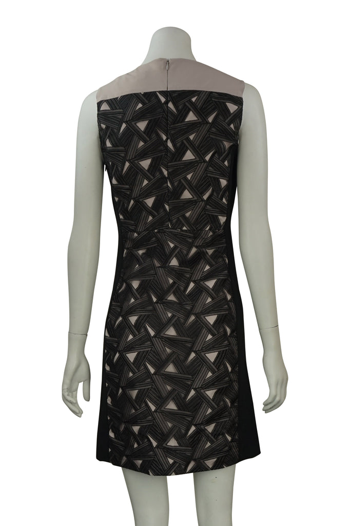 Diane Von Furstenberg Reona Two-Tone Graphic Dress