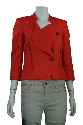 Linen twill red jacket