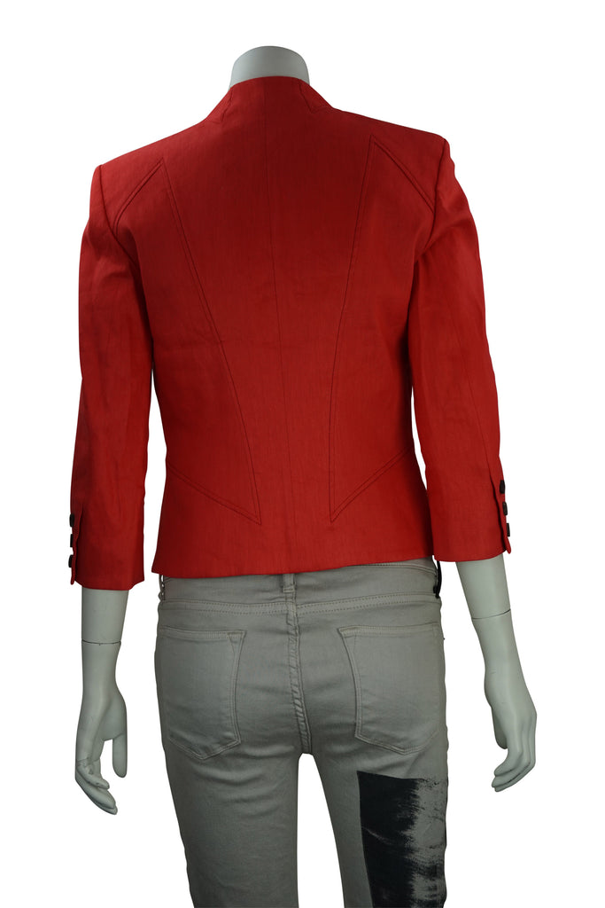 Helmut Lang Linen Twill Red Jacket