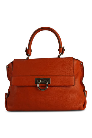 Sofia clementine grained leather bag