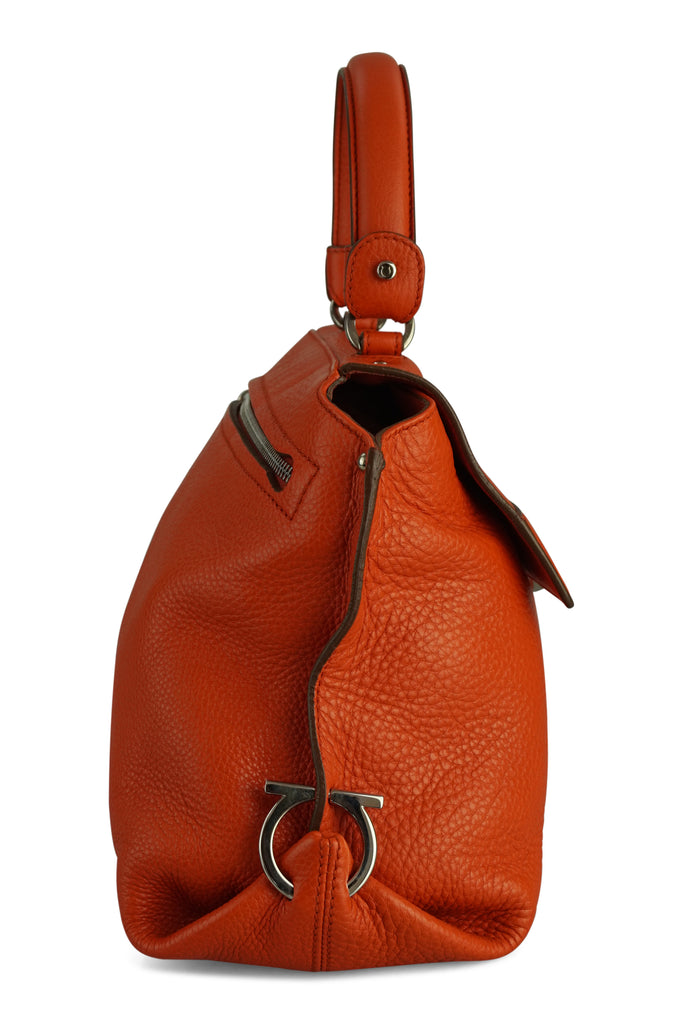 Salvatore Ferragamo Sofia Clementine Grained Leather Bag