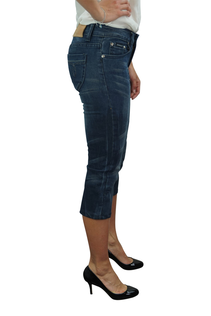 Calvin Klein Washed 3/4 Blue Jeans