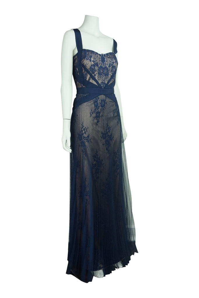 Mikael Aghal Blue Lace Gown