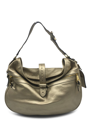 Gold hobo bag
