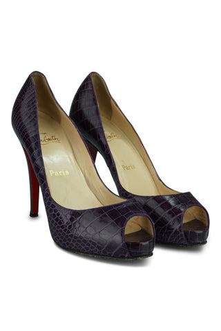 Very prive 120 python peep toe pumps