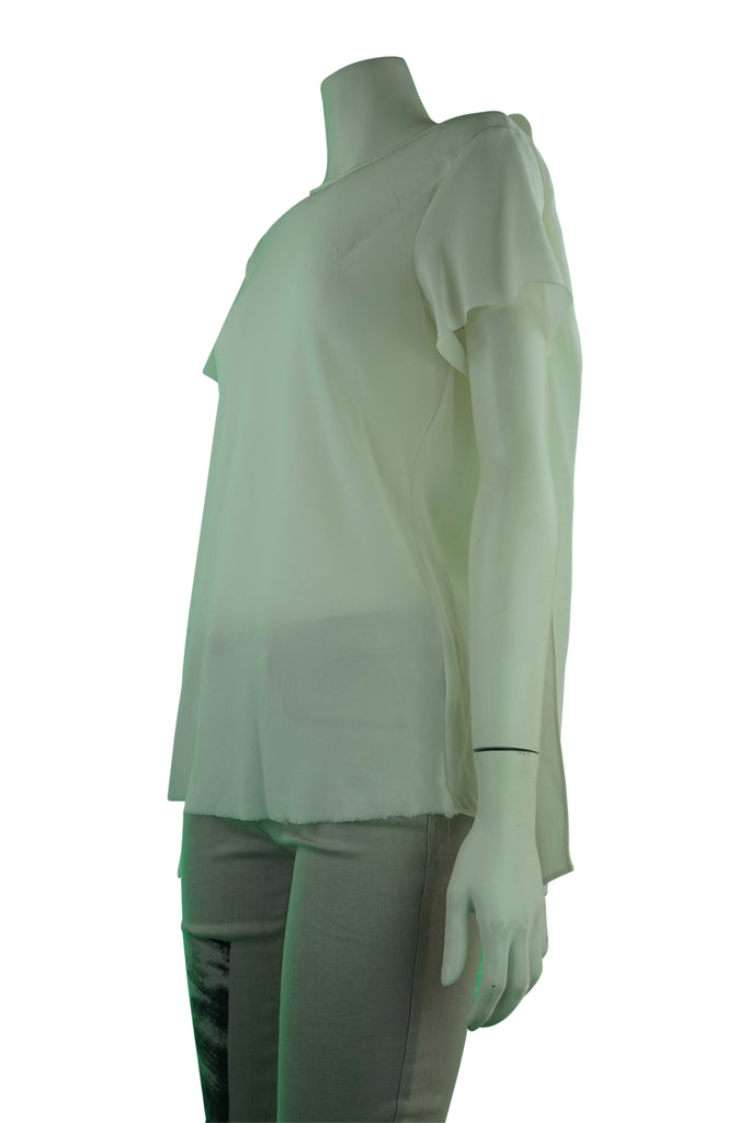 Willow White Silk Blouse