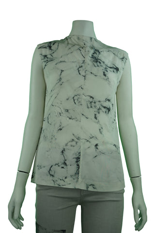 Silk marble pattern blouse