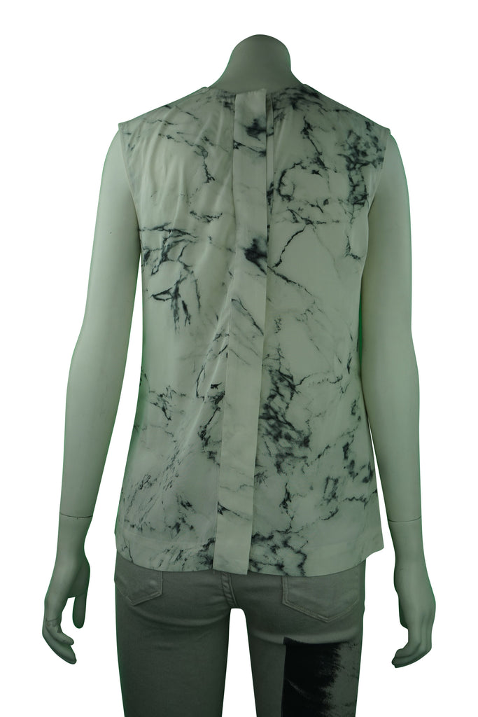 Willow Silk Marble Pattern Blouse