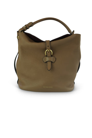 Dark sand leather medium 'sycamore' hobo bag