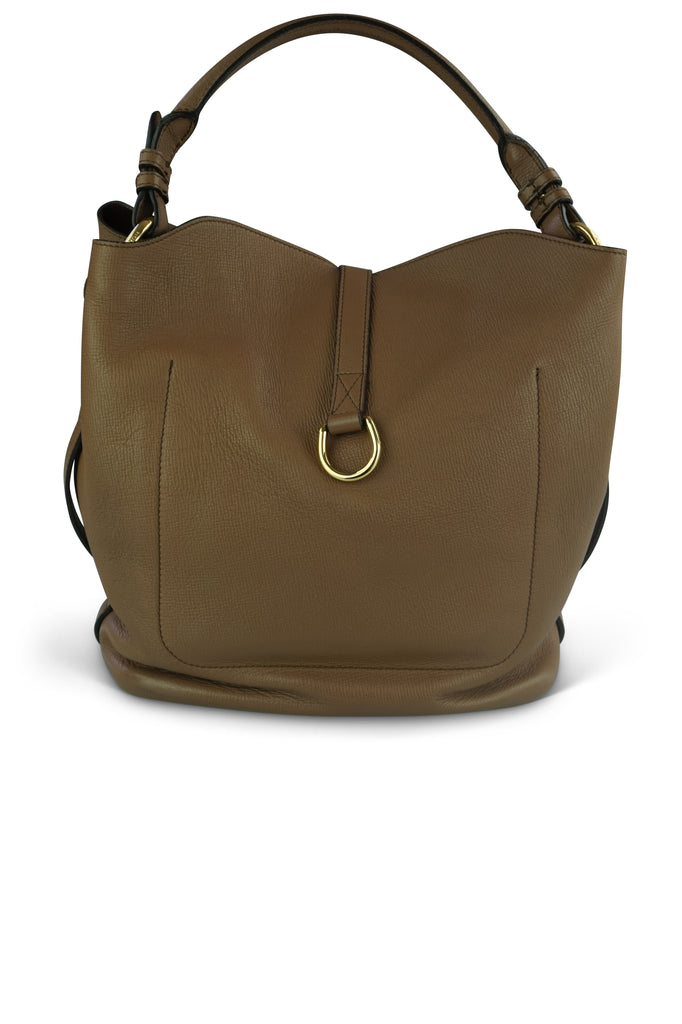 Burberry Dark Sand Leather Medium 'Sycamore' Hobo Bag