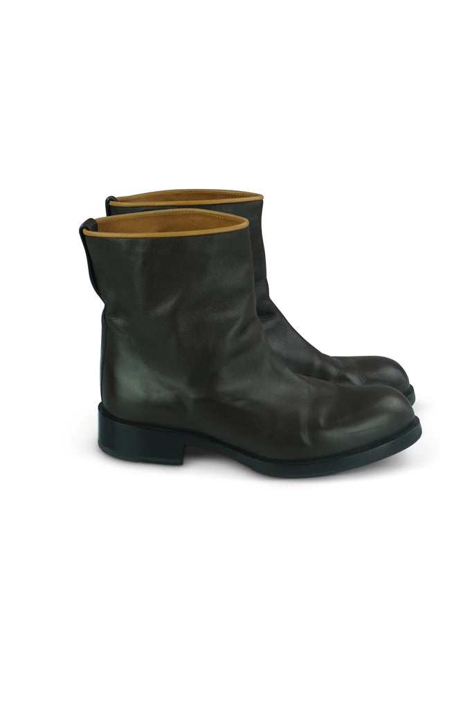 Jil Sander Brown Boots