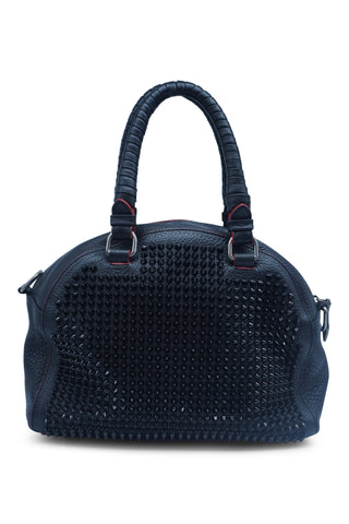 Black panettone small studded bag