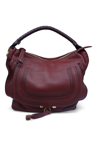 Marcie red large hobo bag garnet