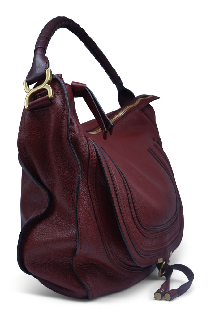 Chloe Marcie Red Large Hobo Bag Garnet