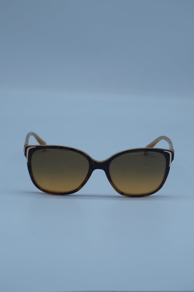 Prada Brown & Black Tortous Shell Sunglasses