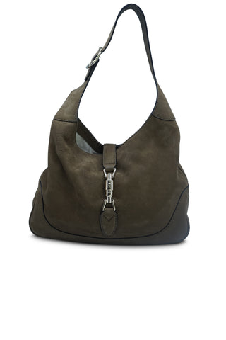 Brown nubuck jackie hobo bag
