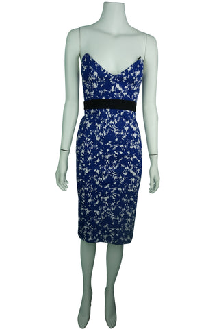 Scanlan theodore dark blue floral dress