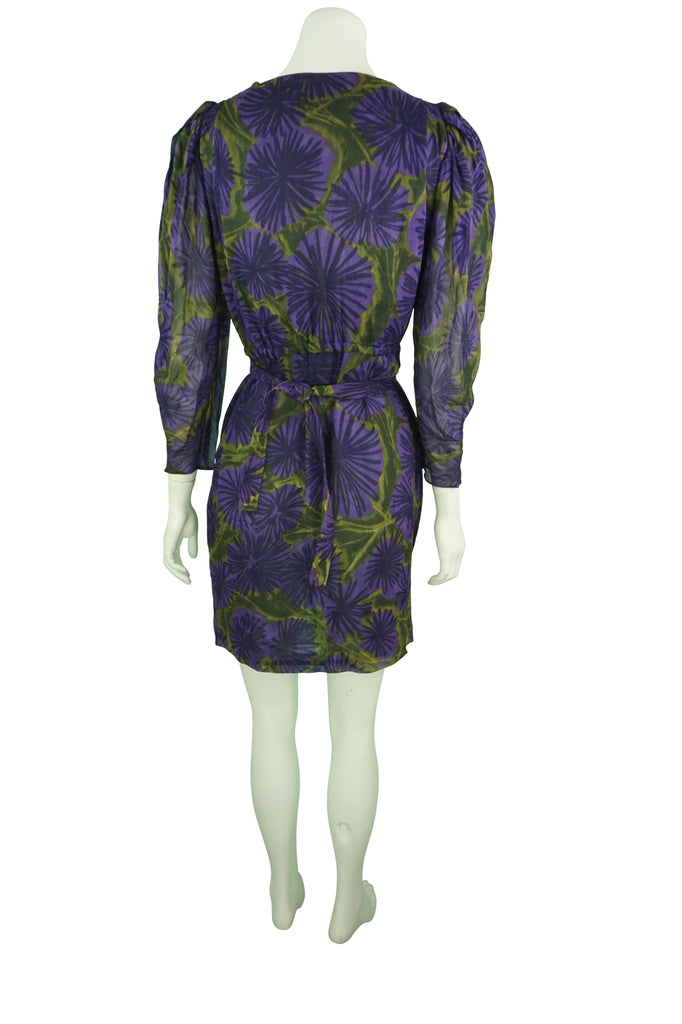 Scanlan & Theodore Purple & Green Dress
