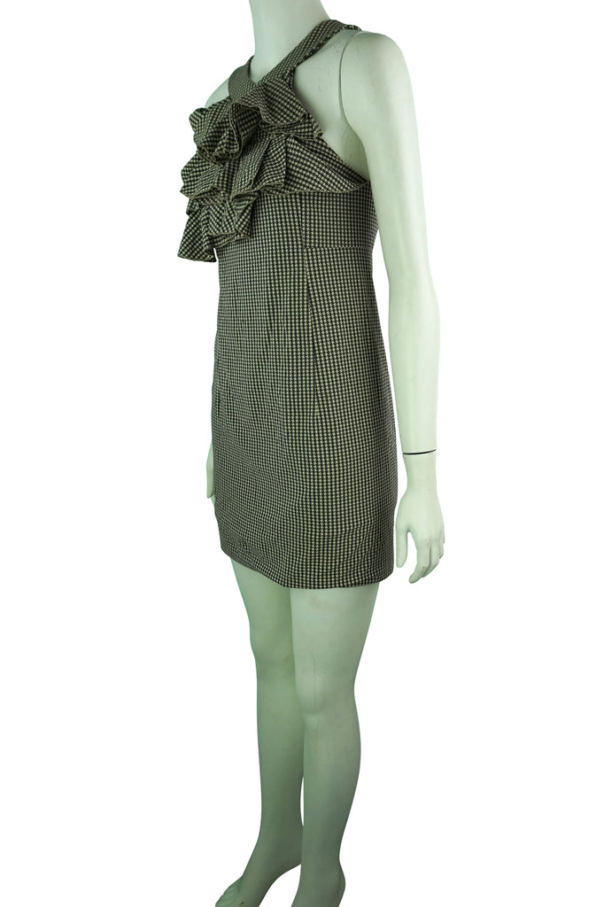 Scanlan & Theodore Checked Ruffle Dress