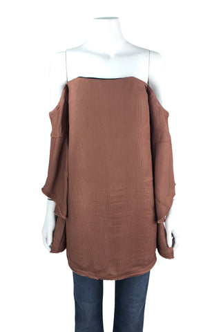 Bronze top with wide sleeves