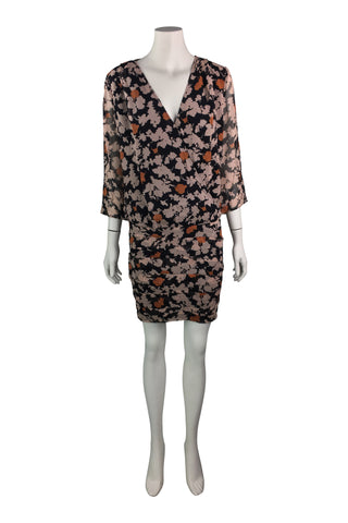 Ba&sh autumn print short dress