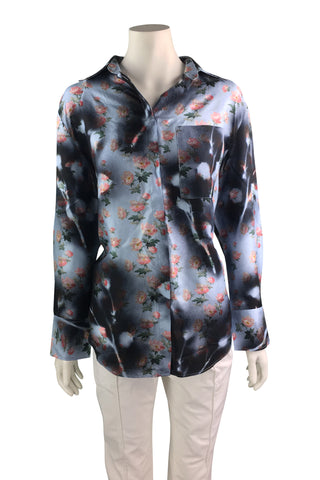 Acne studio flower print silk