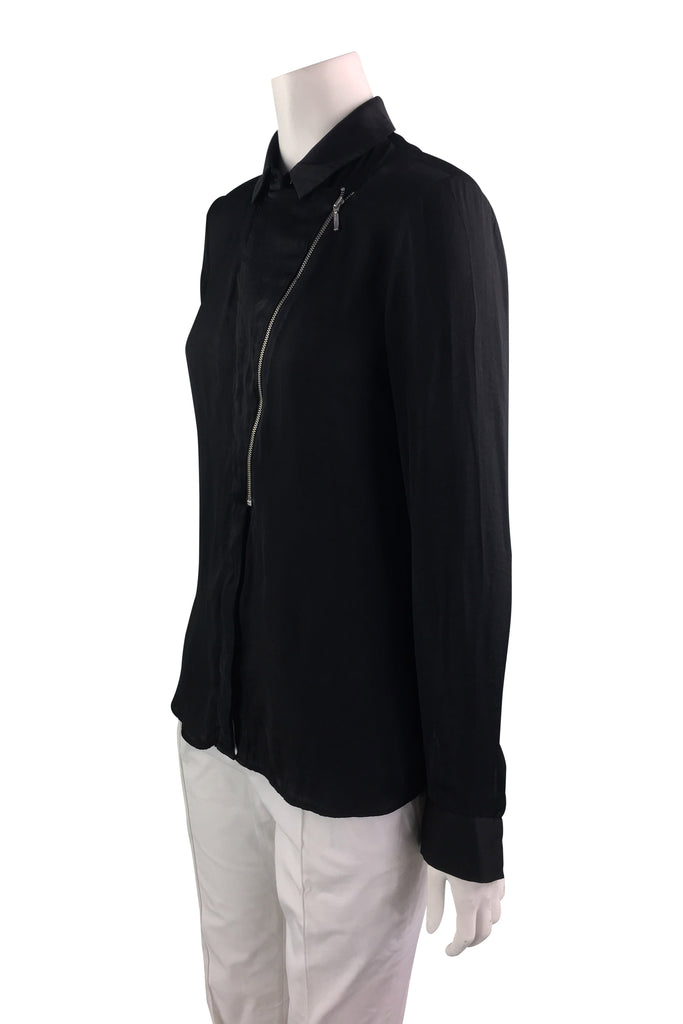Ba&sh Black Blouse with Zipper