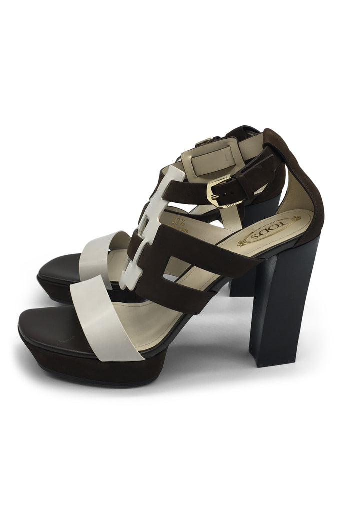 Tod's Two-Tone Two-Leather Sandals