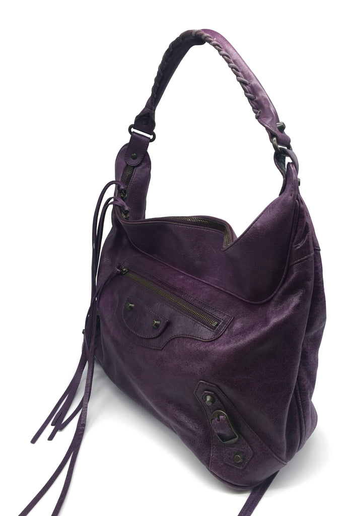 Purple Balenciaga Classic City Tote