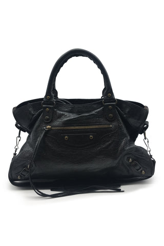 Classic city tote in black
