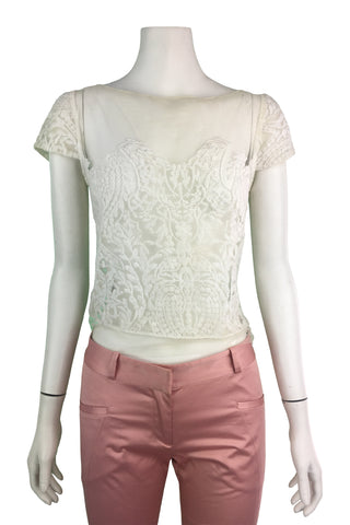 Antique white lace top