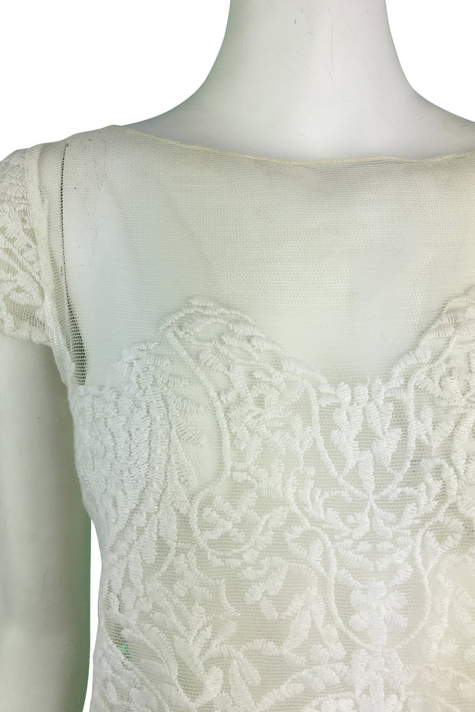 Carla Zampatti Antique White Lace Top