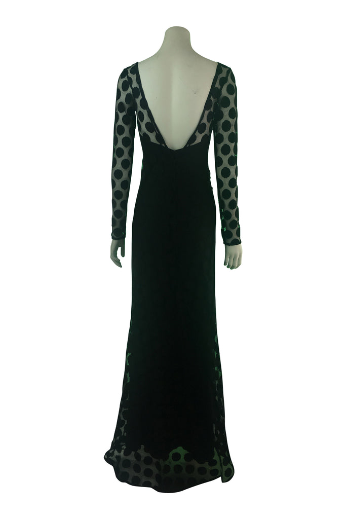 Carla Zampatti Spot Lace Maxi Dress