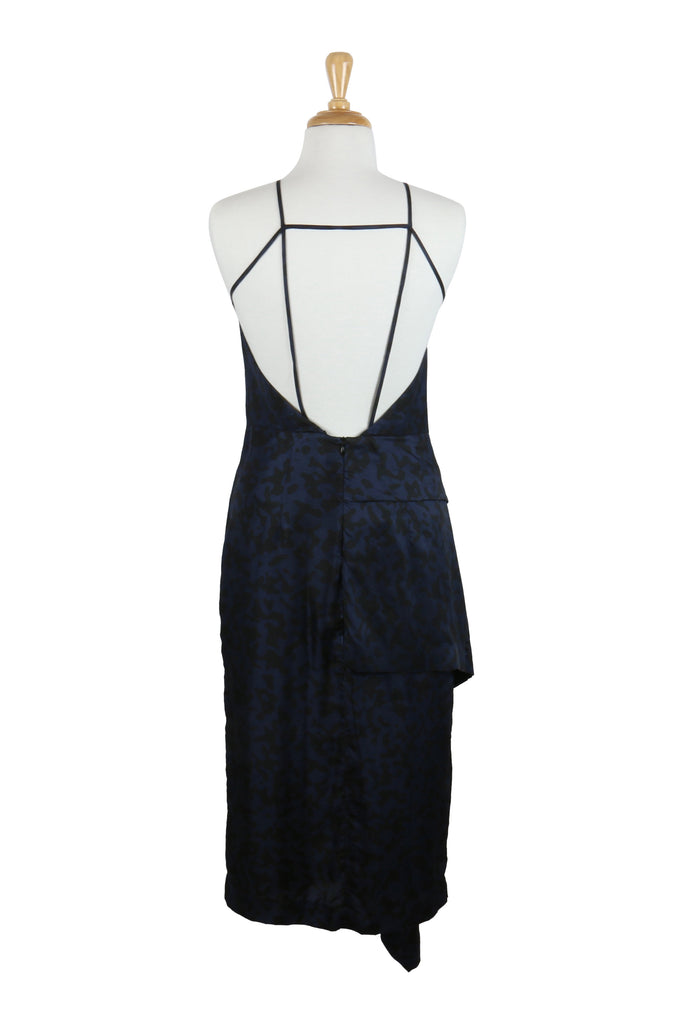 Josh Goot Halterneck dress in navy