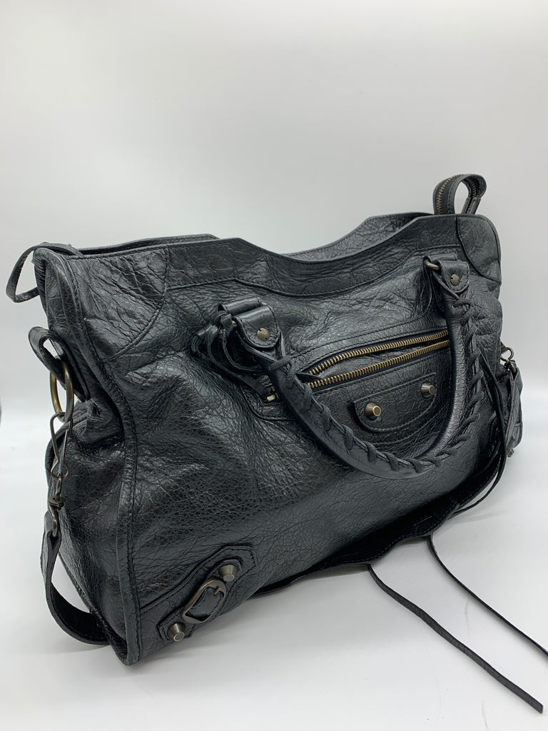 Balenciaga Small City Bag in Black