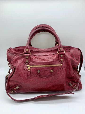 small city bag in plum