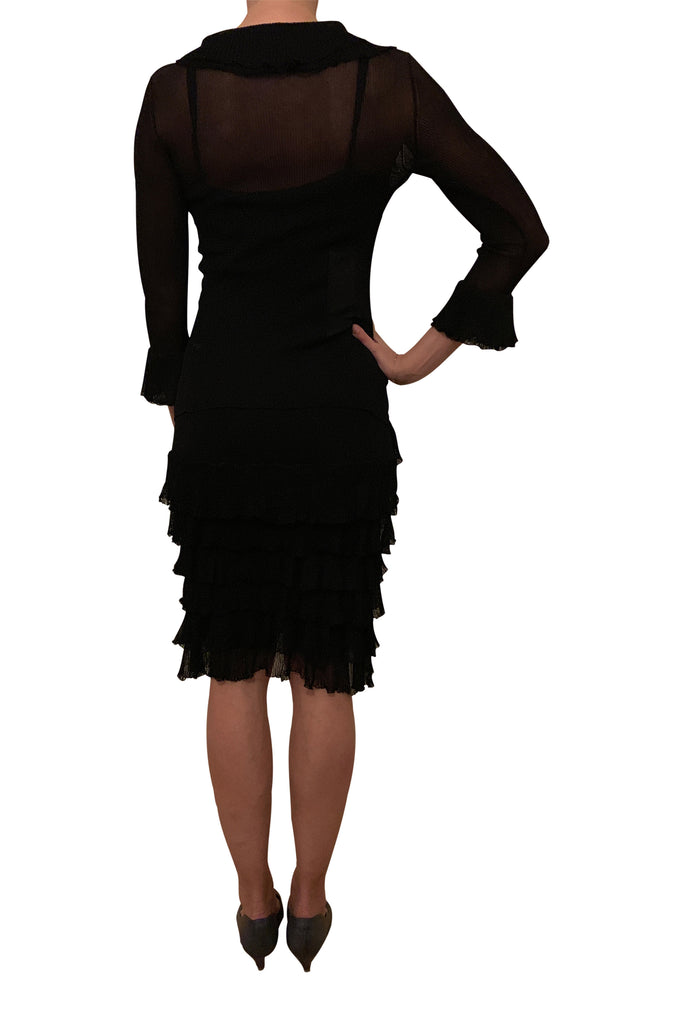 Dolce & Gabbana black knit dress and bolero